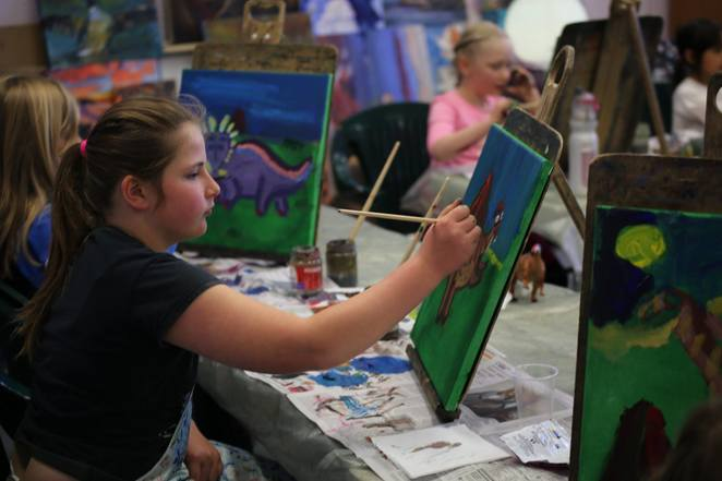 lavendar art studios, school holidays, canberra, phillip, ACT, kids, painting, classes, art,