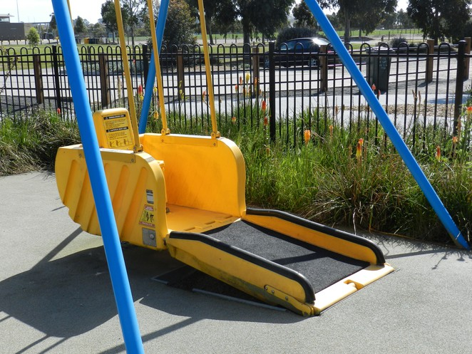 liberty swing, wheelchair swing, playground, casey fields, playground equipment, playgrounds in cranbourne, playgrounds in casey, playgrounds in melbourne,