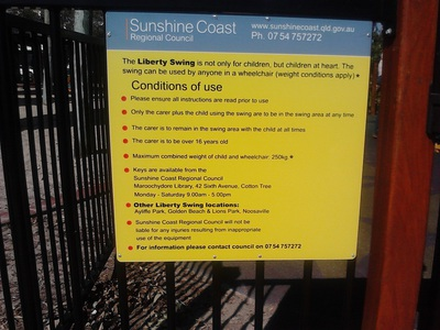 Instructions for the Liberty Swing