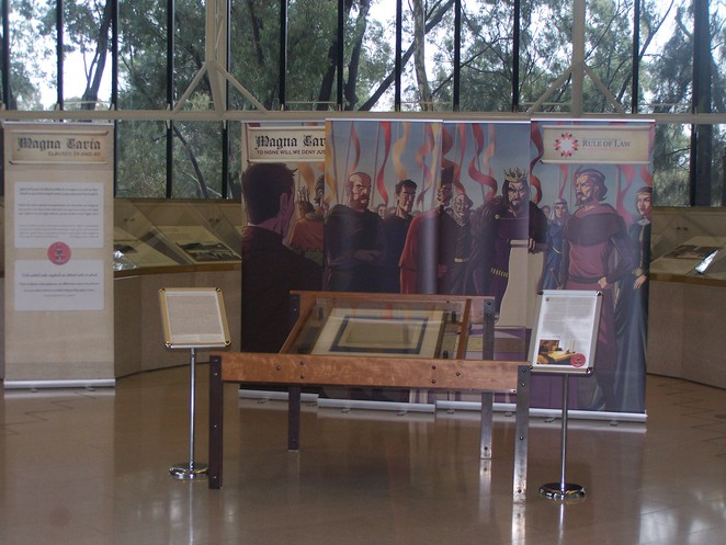 Magna Carta Display, High Court of Australia