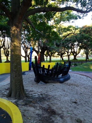 musical boat shipwreck Colmslie playground