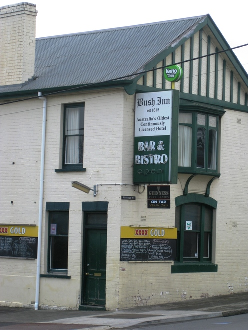 New Norfolk, Tasmania, old pub, bush inn, historic town,