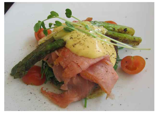 Pantry Cafe, smoked salmon, sweetcorn zucchini pancakes