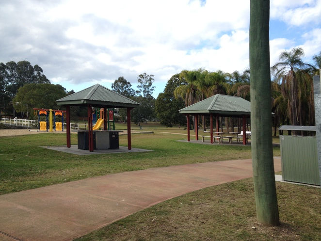 Park in Beenleigh, Doug Larsen Park, BBQ Area, Picnic Tables, Picnic Area
