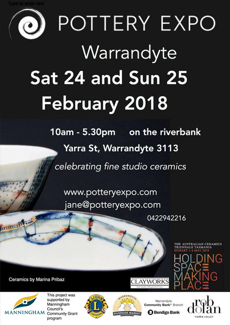 pottery expo 2018, warrandyte, community event, fun things to do, shopping, artisan, hand made, one of a kind, fine studio ceramics, manningham council, family fun, retail therapy, market stalls, markets, stall holder, food