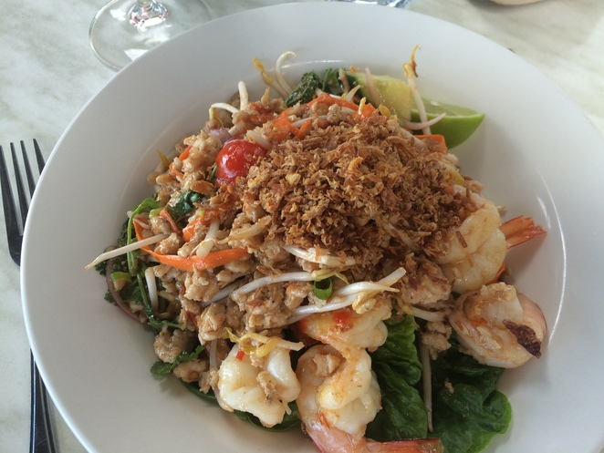 Prawn and Chicken Larb
