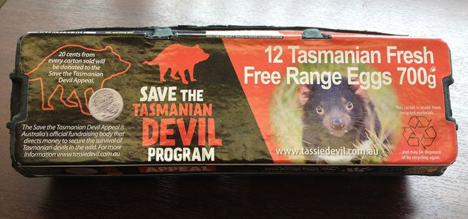 Pure Foods Eggs support the Save the Tasmanian Devil Appeal
