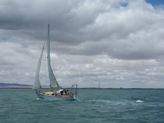 sailing, Port Pirie, Spencer Gulf, wind, fishing