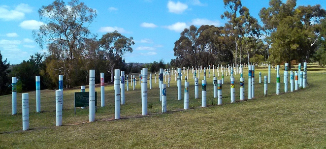 siev memorial, weston park, canberra, lake burley griffin, ACT, parks, memorials, siev x memorial