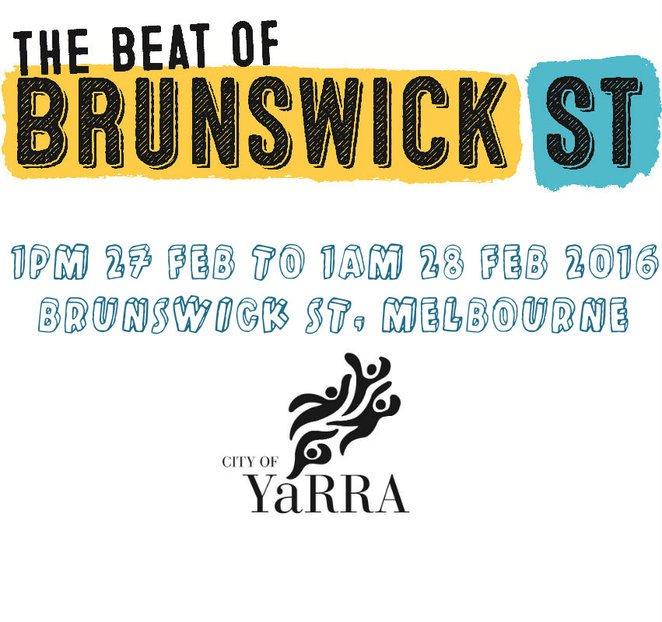 the beat of brunswick street, yarra city council, music event, djs, bars, cafes, music venues, bohemian, cultural, ichi ni nana, horses bar, uptown jazz cafe, labour in vain, the rooks return, the black cat, stone hotel, provincial hotel, baxters lot, bar open, the rum diary bar, evelyn hotel