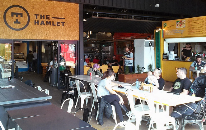 the hamlet, lonsdale street, canberra, ACT, food truck vendors, mr papa, spit shack, brodogs, filo, pasta'd,