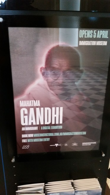 The Immigration Museum, Mahatma Gandhi
