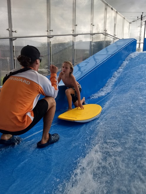 Tobruk Memorial Pool, Flowrider, body boarding and surfing in Cairns
