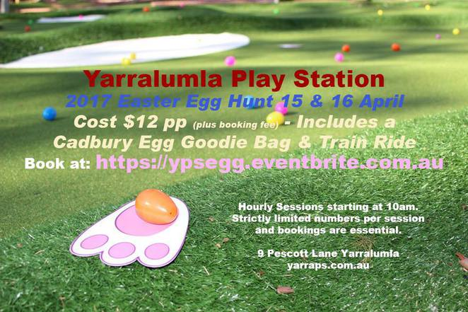 yarralumla play station, easter egg hunt, canberra, 2017, mini train rides, mini golf, easter events,