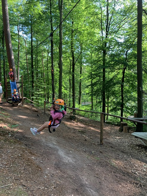 Adventure, Flying Fox, Party Ideas, Family fun, kids climbing, kids obstacle course, 7m above the ground, Frankfurt, what to do in Frankfurt, climbing, hang in there, Kids