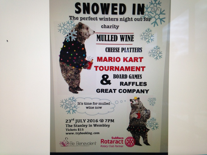 be benevolent, rotaract club subiaco, The Stanley, mulled wine