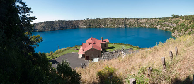 The gorgeous, panoramic views of the Blue Lake (photo courtesy of author)