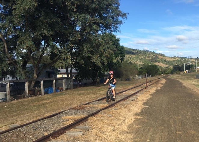 Cycling along old tracks on the Brisbane Valley Rail Trail