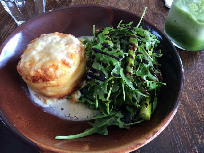 cheese soufflé, the vintage goose, twice cooked, parmesan, rocket, salad, delicious, the vintage goose, restaurant, cafe, dining, kyle bay