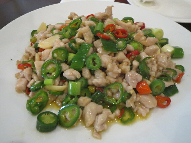 ChongQing House, Stir Fried Chicken with Red and Green Bullhorn Chillies, Adelaide