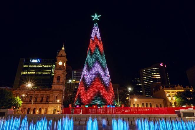 christmas lights, festive nights, city of adelaide, community event, fun things to do, festive season, merry christmas, santa clause, christmas carols, victoria square, tarntanyangga, santa sleigh, rudolf the reindeer, lego bricks christmas, catch the lights, merry movies, night music, stage antics, live shows, games galore, festive food