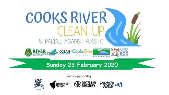 Cooks River Clean Up 2020 Paddle Against Plastic