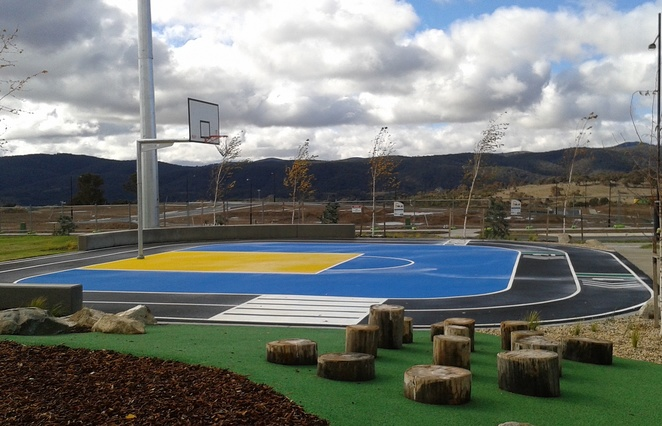 duncan fields, googong, basketball courts, canberra, ACT, best basketball courts, playground, parks, parks in googong, school holidays, outdoor fitness,