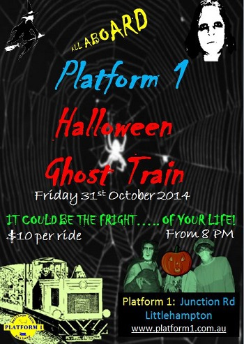 halloween adelaide, halloween 2014, ghost train, littlehampton, platform1