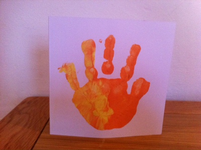 Hand print, painting, toddlers, messy play