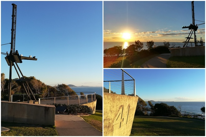 HMAS Brisband lookout, alexandra headlands, mooloolaba, queensland, sunshine coast, views, lookouts, beaches, picnic areas, free BBQ's, views of cruise boats, sunrise, best place to see sunrise, QLD,