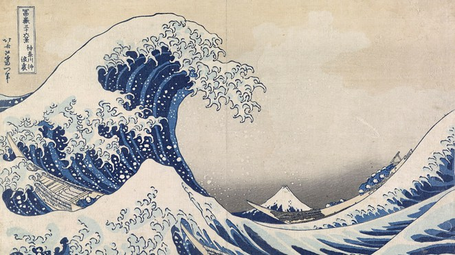 Hokusai, Japanese, artist, art, exhibition, National Gallery of Victoria, NGV, Melbourne, Australia, The great wave off Kanagawa