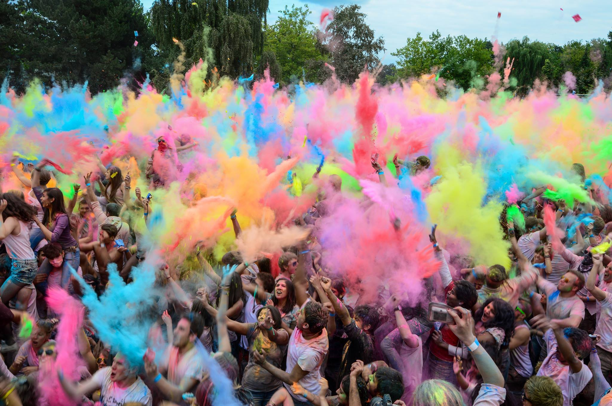 Brighton holi one colour festival