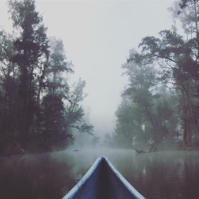 An early morning canoe