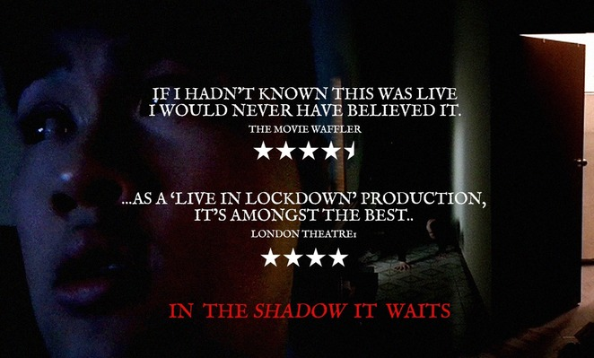 in the shadow it waits 2020, a horror film performed live, community event, fun things to do, horror flick, online event, performing arts, entertainment, scary night in, silly online game, urban legend, actors, filmmakers, tech crew