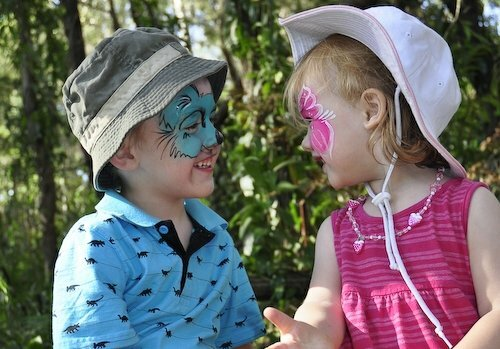 The face painting is always popular at Indigi Day Out