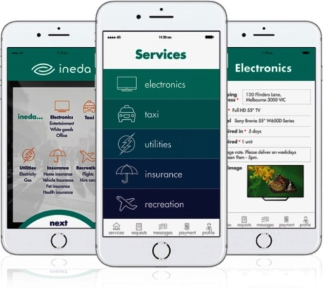 ineda mobile app, ineda, phone, app, buy, bid