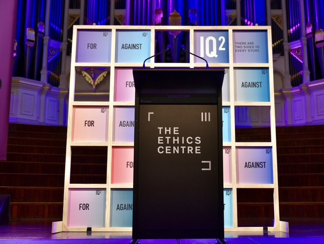 IQ2 Debate, The Ethics Centre, Jade Jackson Photography, The Future of Humanity debate, Town Hall Sydney