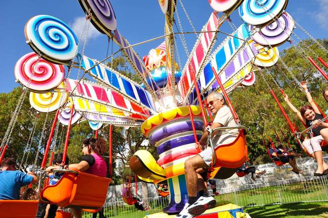 Lollie Swing Ride at Kids Big Carnival Rockingham