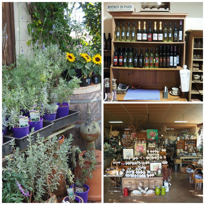 Pottique, pottery, lavender, wine, antiques, farm