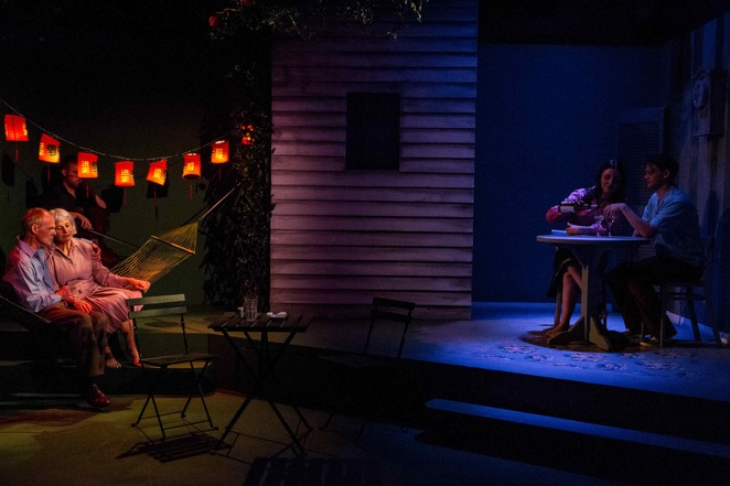 Paul English, Jillian Murray, Maddy Jevic and Dylan Watson in Lovesong at Red Stitch Actors Theatre. Image credit: Teresa Noble.