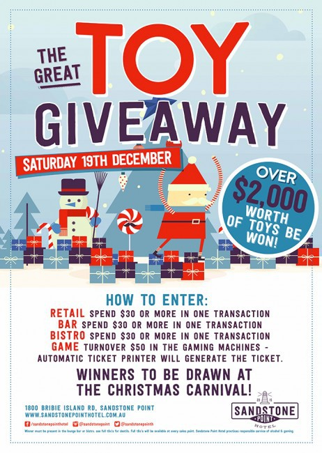 The great toy give away poster