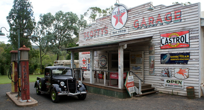 Take the kids to see some automotive history inside Scotty's Garage in the Lockyer Valley