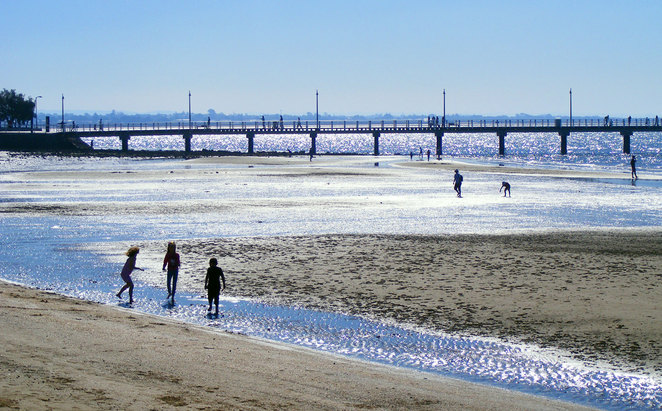 Shorncliffe Beach at low tide