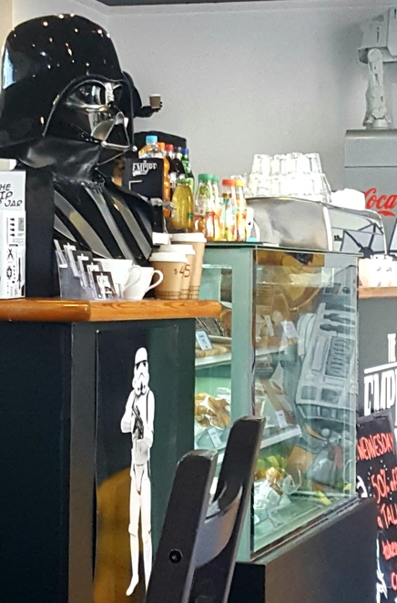 Star Wars, cafe, breakfast, coffee, lunch, memorabilia
