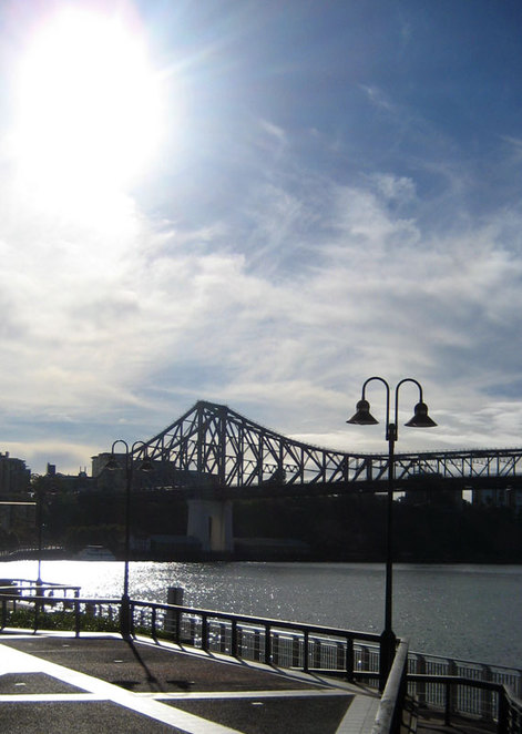 View of the Story Bridge from Eagle Street Pier