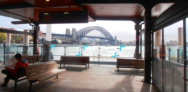 A view of the Harbour bridge from Circular Quay.