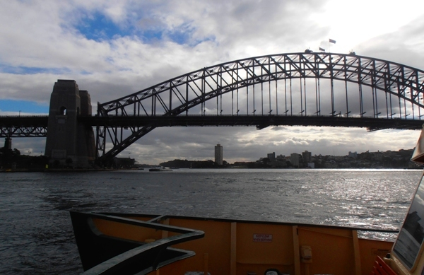 Sydney Harbour Bridge from the harbour.