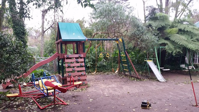 The kids can run and play safely in the well appointed playground and gardens.