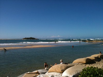 The Maroochy River mouth just outside Cotton Tree Caravan Park