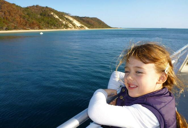 Enjoying every minute of the ferry to and from Moreton Island